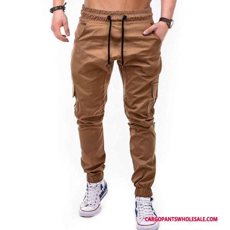 Cargo Pants Male Khaki Jogging Woven Europe Trousers Cargo
