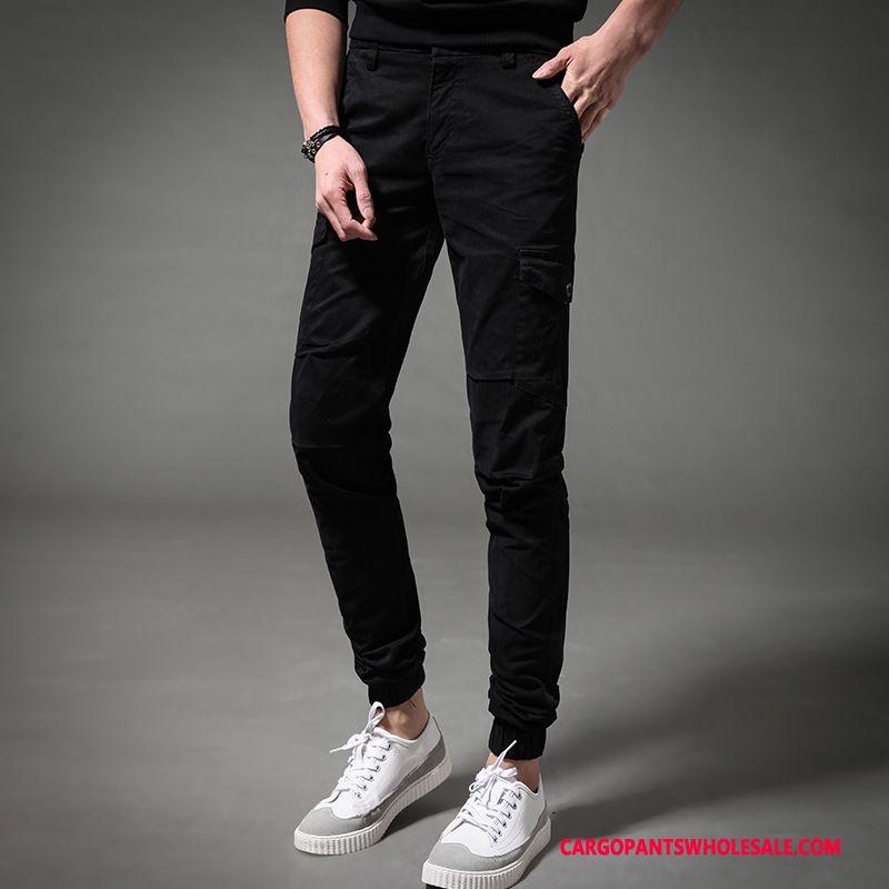 Cargo Pants Male Khaki Spring Multi-pocket Men Casual Pants Cargo Solid Color