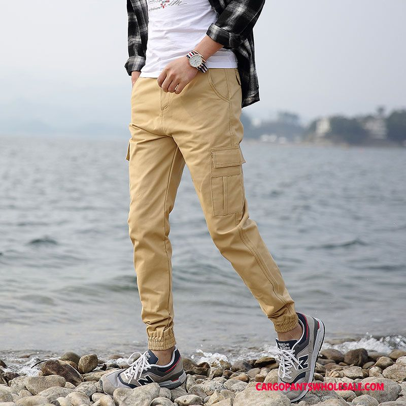 Cargo Pants Male Khaki The New Casual Pants Men Trend Cargo Spring
