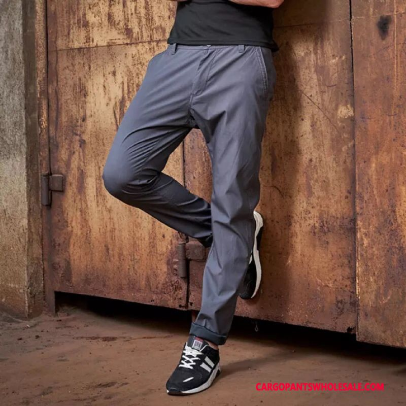 Cargo Pants Male Light Gray Cargo Pants Cotton Men Fashion Trousers All Match