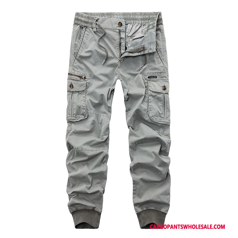 Cargo Pants Male Light Gray Large Size Cargo Pants The New Fashion Trousers
