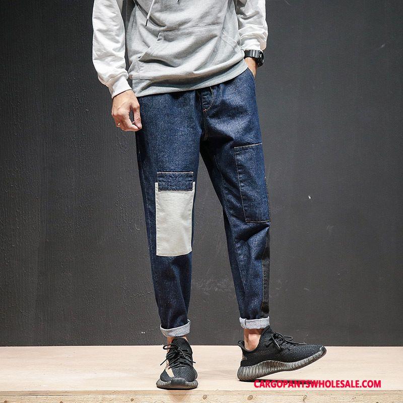 Cargo Pants Male Navy Blue Green Leisure Autumn Men Casual Pants Cargo Pants Trousers