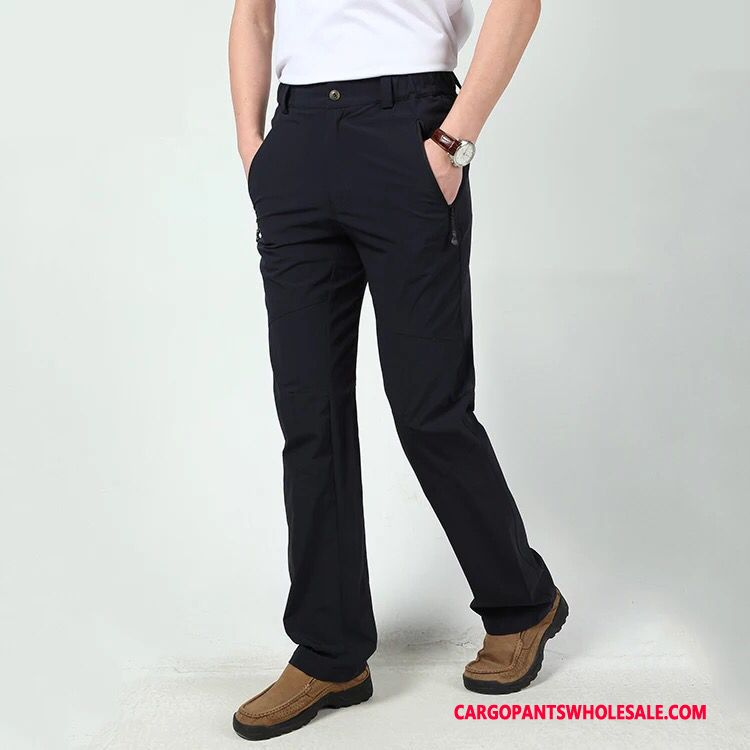 Cargo Pants Male Navy Blue Pants Summer Men Winter Autumn Thin Section