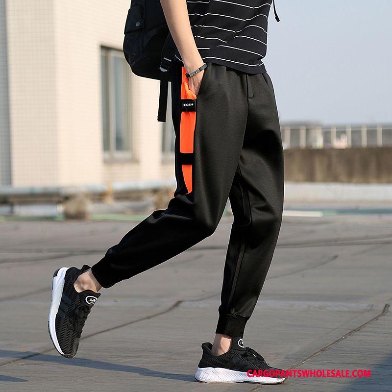 Cargo Pants Male Red Black Slim Fit Casual Pants Cargo Harlan Sweatpants