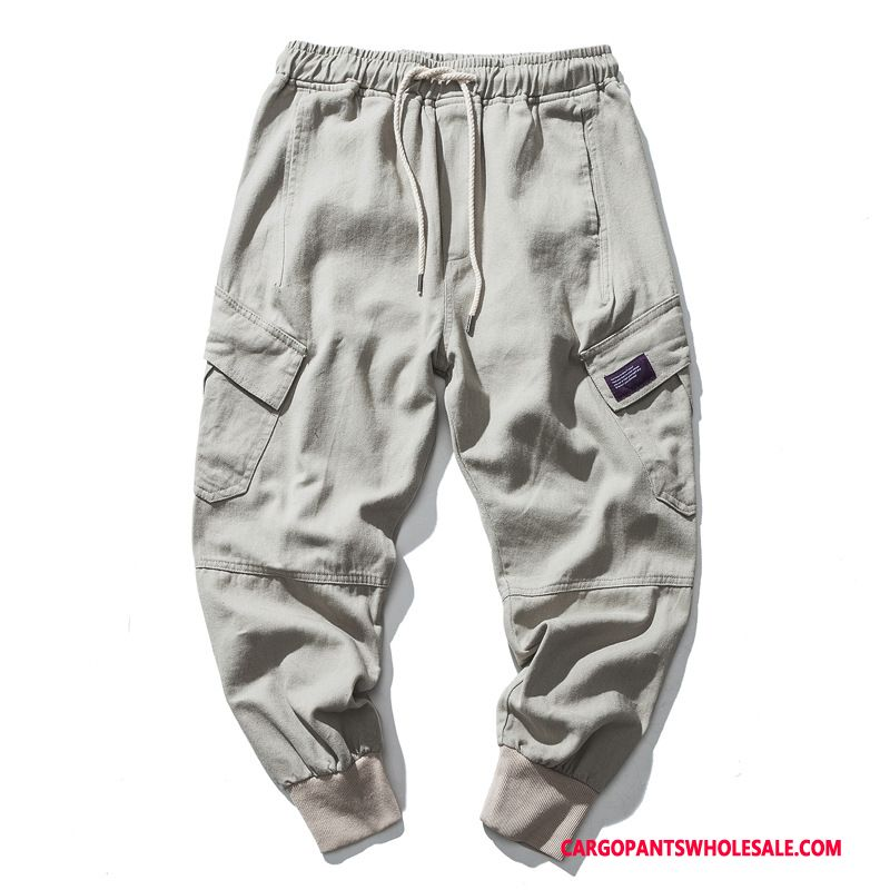 Cargo Pants Male White Harlan All Match Men The New Loose Pants