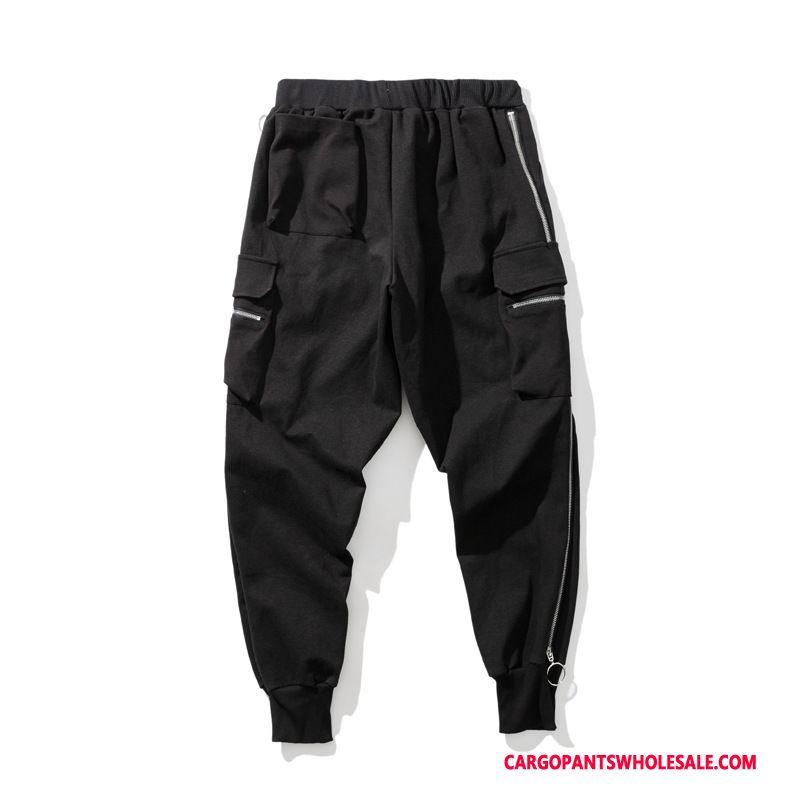 Cargo Pants Men Black Autumn Casual Pants Small Cargo Pants High End