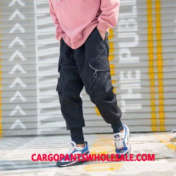 Cargo Pants Men Black Cargo Pants The New Autumn Tide Loose