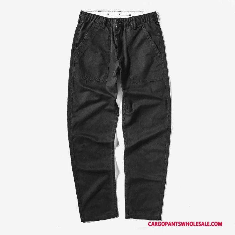 Cargo Pants Men Black Cargo Tide Brand Loose Straight Casual Pants