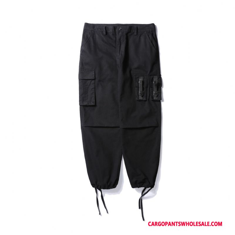 Cargo Pants Men Black Green Pants Trend Cargo Beam Foot Cotton
