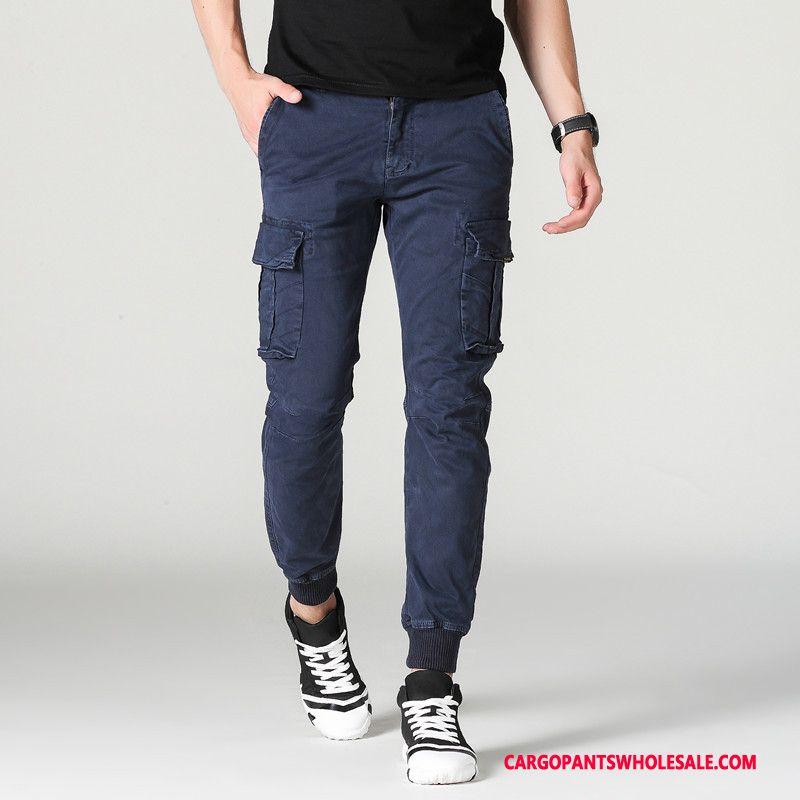 Cargo Pants Men Blue The New Multi-pocket Casual Pants Cargo Pants Trousers