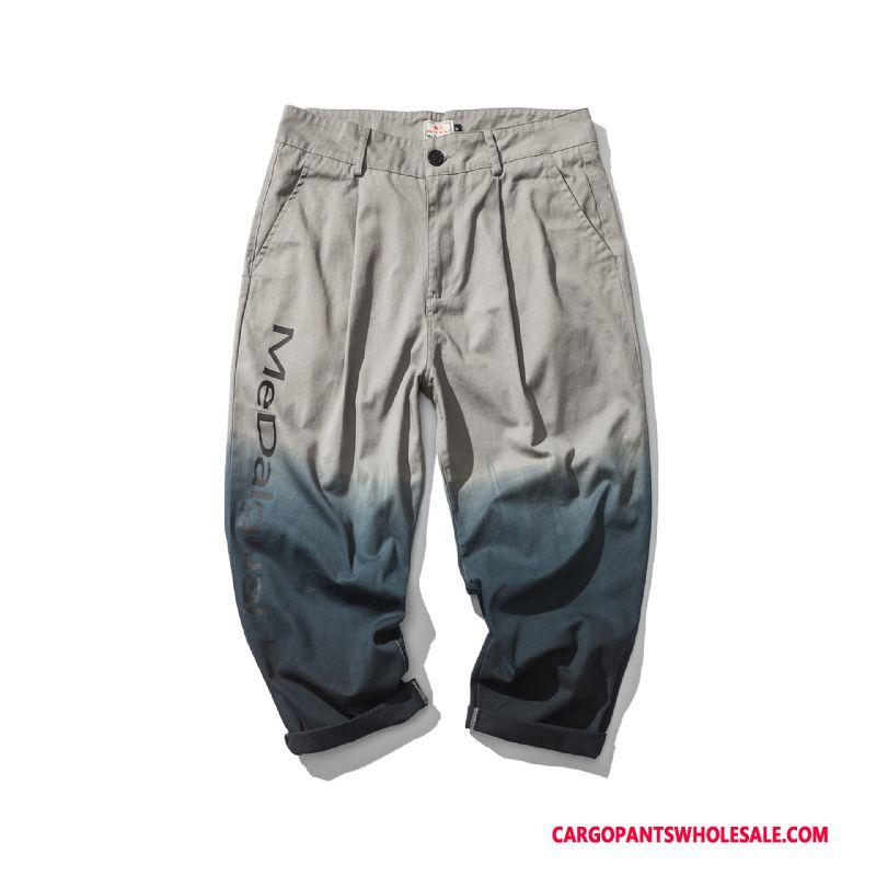 Cargo Pants Men Gray Cargo Pants Summer Loose Harlan Thin Section