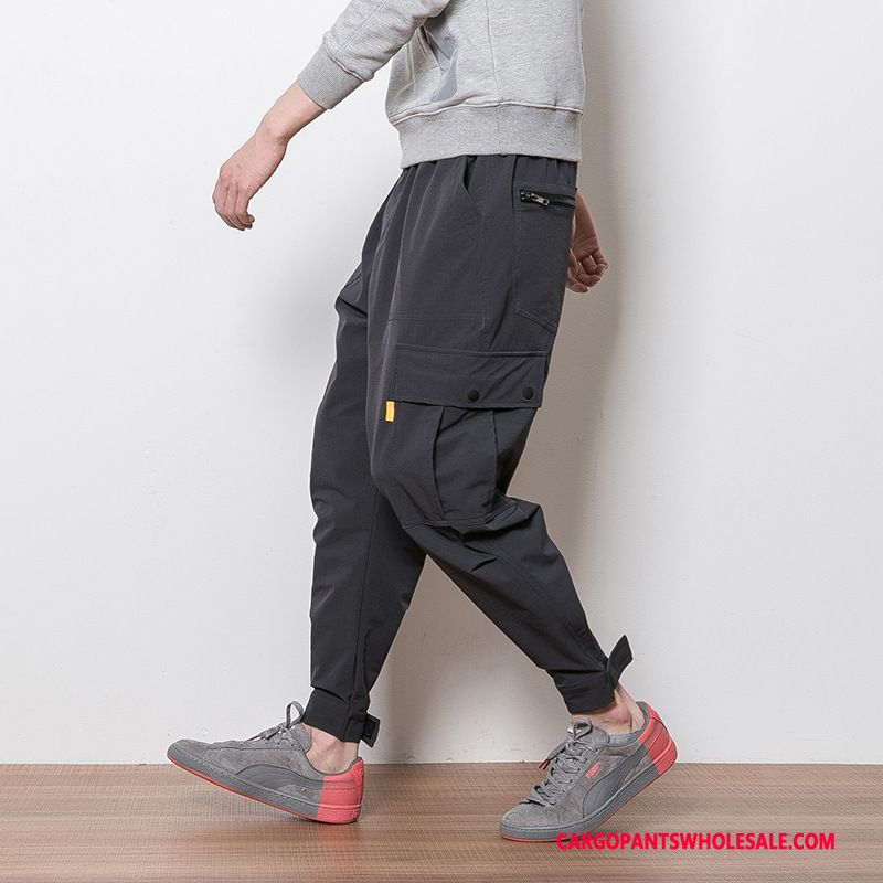 Cargo Pants Men Gray Cargo Pants Tether Large Size The New Loose