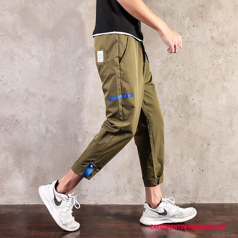 Cargo Pants Men Green Pants Quick Drying Leisure Large Size Fat Man