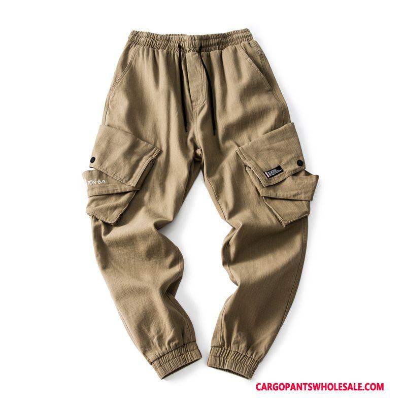 Cargo Pants Men Khaki Cargo Pants Autumn Multiple Pockets Trousers