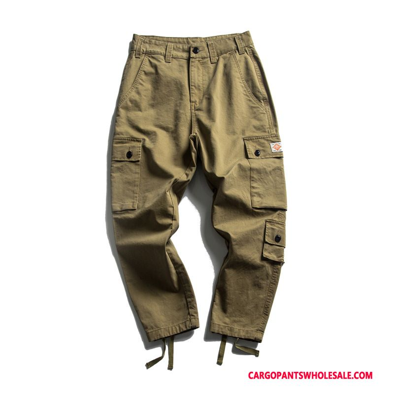 Cargo Pants Men Khaki Green Original Student Harlan The New Spring
