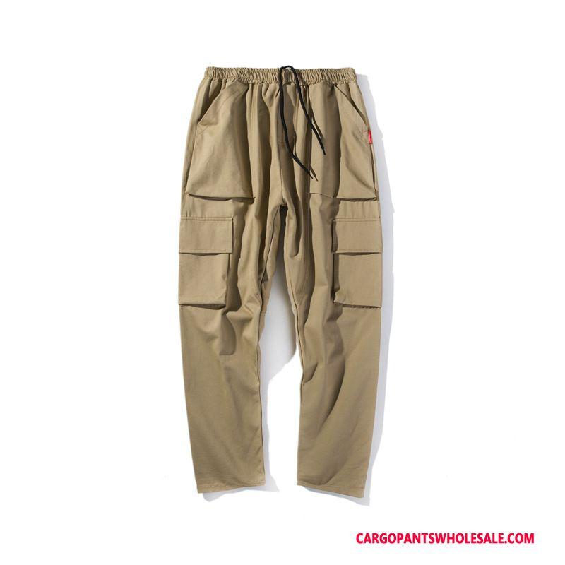 Cargo Pants Men Khaki Green Pants Loose Casual Pants Juvenile The New