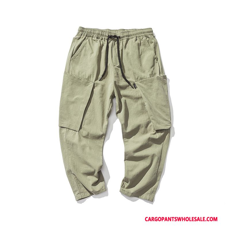 Cargo Pants Men White Tide Brand Casual Pants Summer Small Cargo Pants