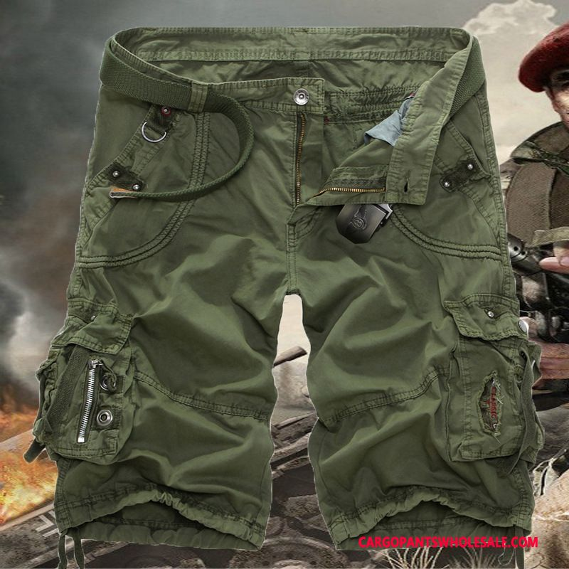 Cargo Shorts Male Army Green Beach Cargo Men Shorts Large Size Cargo Pants