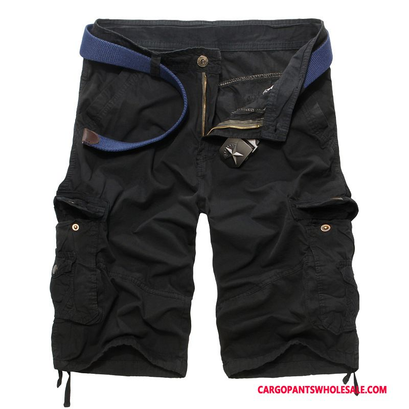 Cargo Shorts Mænd Army Grøn Sommer Shorts Herre Herre Cargo Bukser Ny Flere Lommer