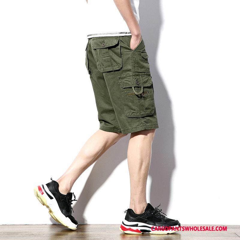 Cargo Shorts Male Army Green Cargo Sweatpants Men Shorts Casual Pants Large Size