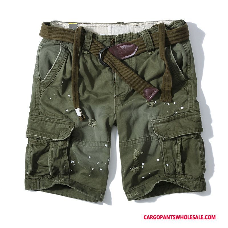 Cargo Shorts Male Army Green Cotton Pants The New Shorts Cargo Pants