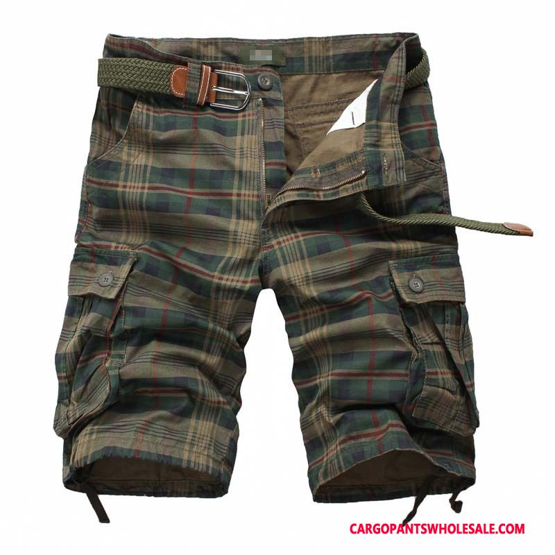 Cargo Shorts Male Army Green Europe Shorts Men Cargo Sweatpants Cotton