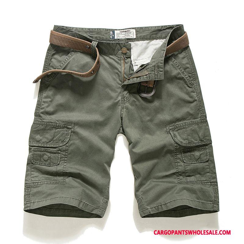 Cargo Shorts Mænd Army Grøn Store Størrelser Sommer Herre Tynde Bukser Shorts