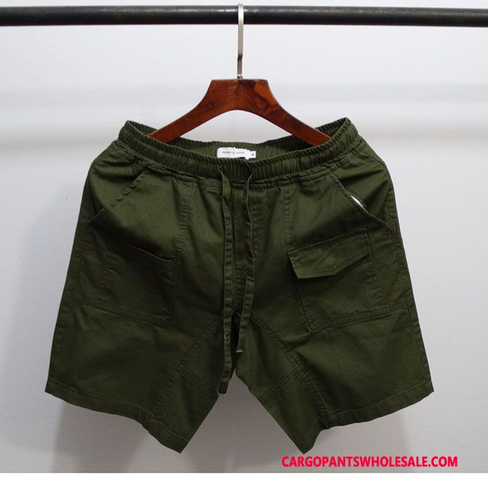 Cargo Shorts Male Army Green Pants Shorts Men Elastic Leisure Summer