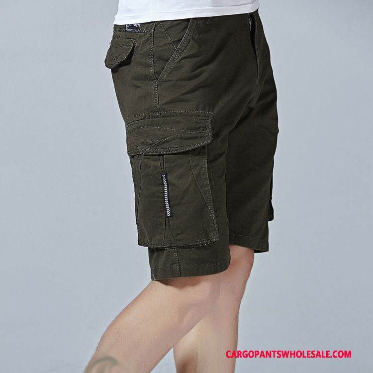 Cargo Shorts Male Army Green Shorts Cargo Men Pants Large Size Cotton