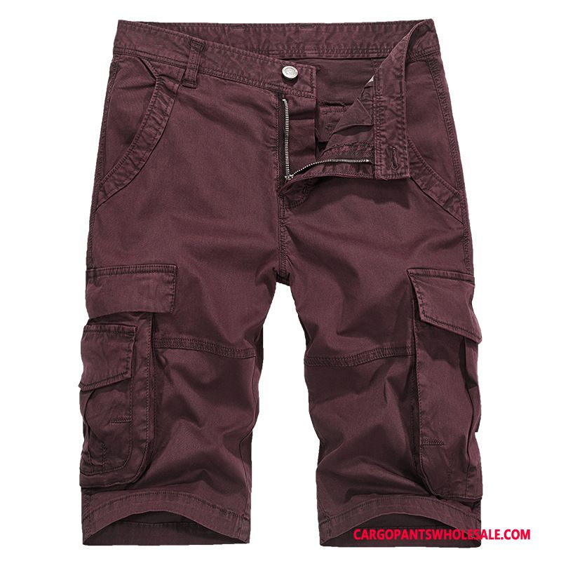 Cargo Shorts Male Black All Match Pants Men Shorts Medium Leisure