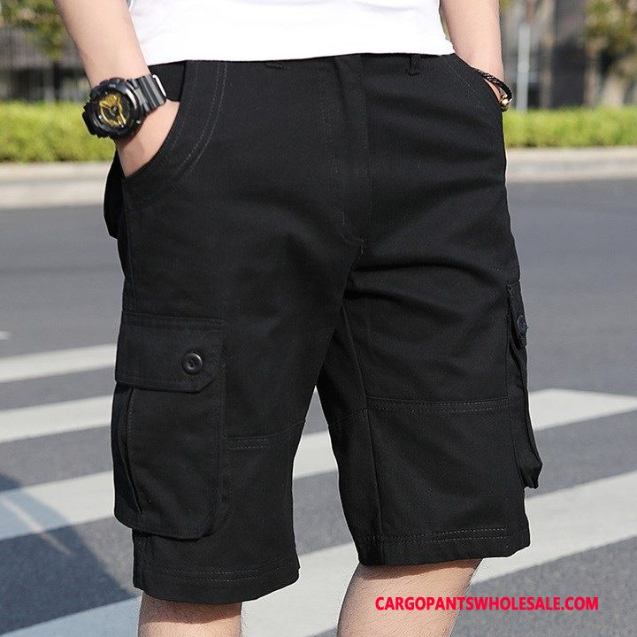 Cargo Shorts Male Black Green Large Size Tide Men Pants Summer Cargo