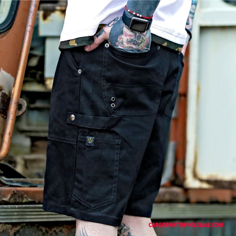 Cargo Shorts Male Black Green Printing Cargo Men Pants Shorts Summer