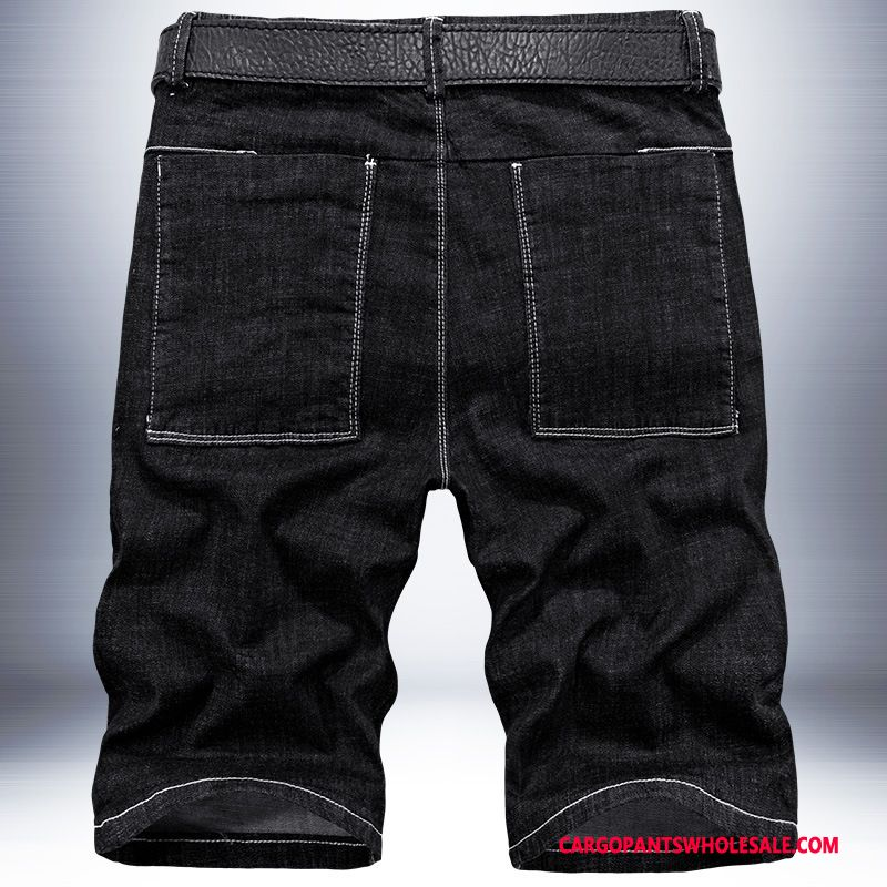 Cargo Shorts Male Black Leisure Thin Section Loose Pants Jeans