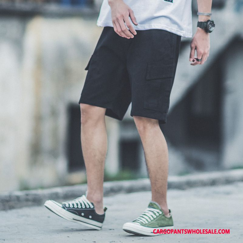 Cargo Shorts Male Black Pants Original Shorts Summer Multi-pocket