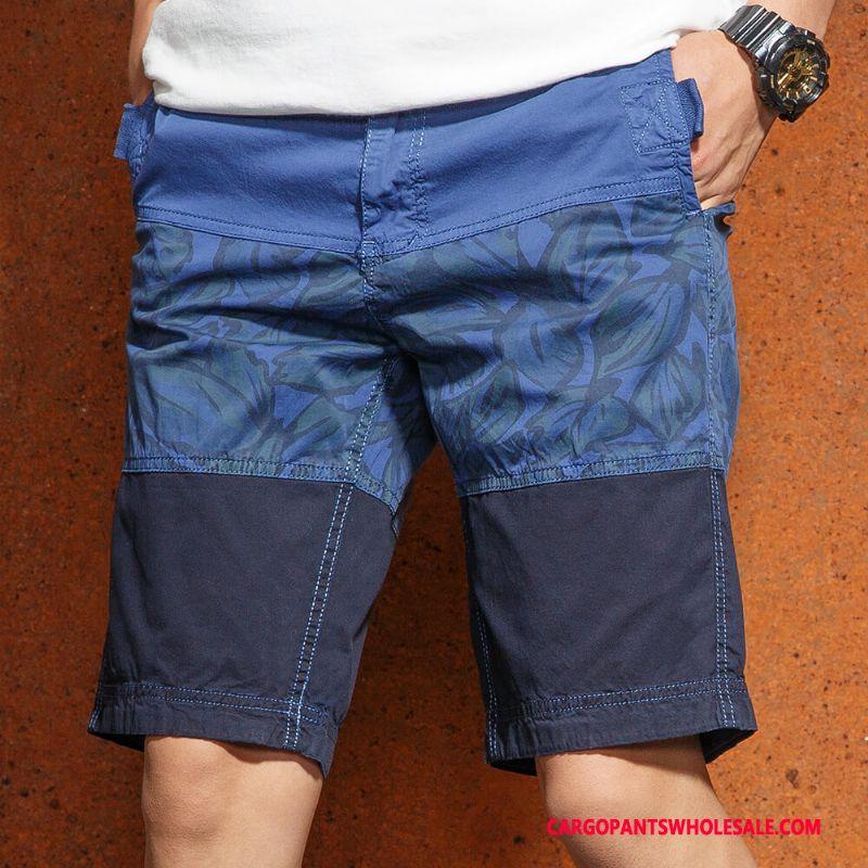 Cargo Shorts Male Blue Green Cargo Shorts Men Pants Cotton The New