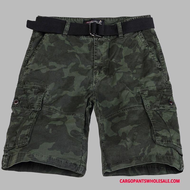 Cargo Shorts Mænd Blå Bukser Shorts Sport Brede Sommer