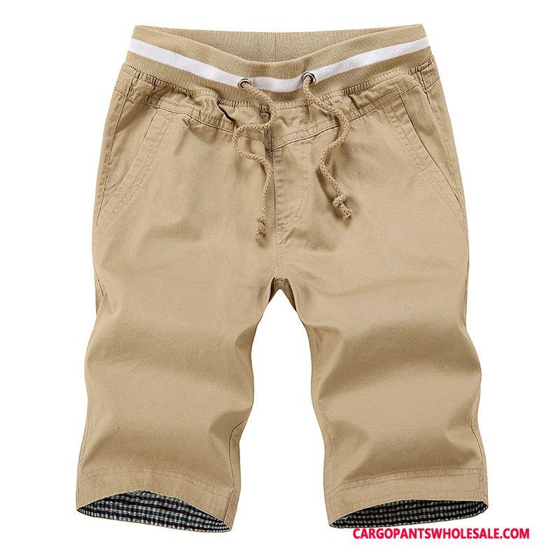 Cargo Shorts Male Blue Slim Fit Capri Pants Men Cargo Pants Shorts Medium