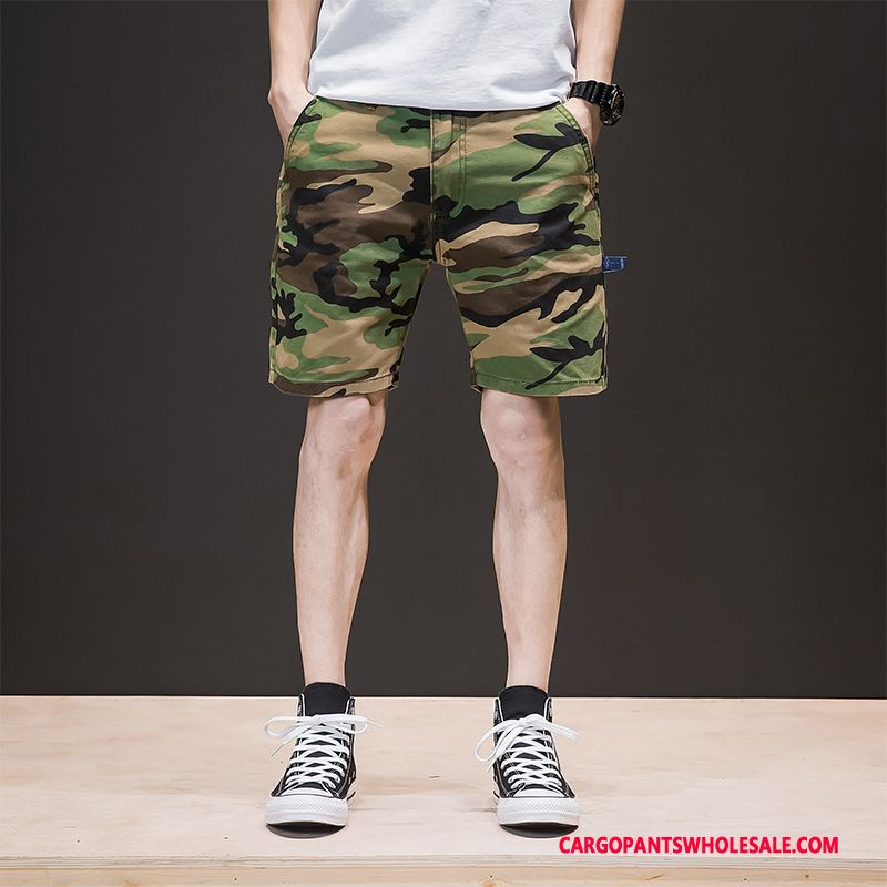 Cargo Shorts Male Camouflage Army Green Shorts Beach Men Military Medium Cargo Pants