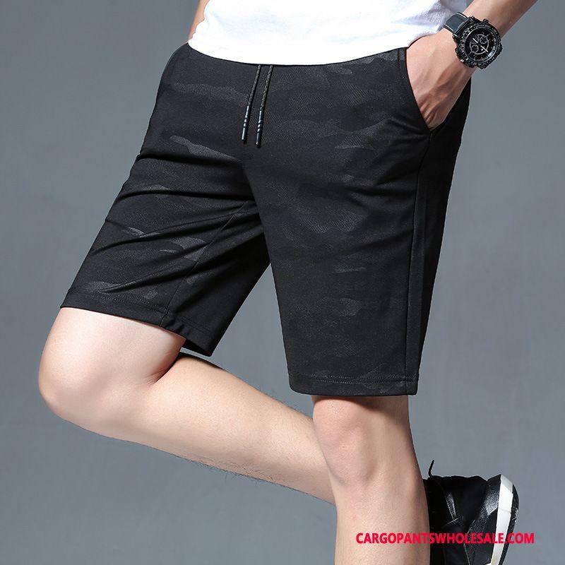 Cargo Shorts Male Camouflage Black Sweatpants Breathable Men Shorts Stretch Pants Loose