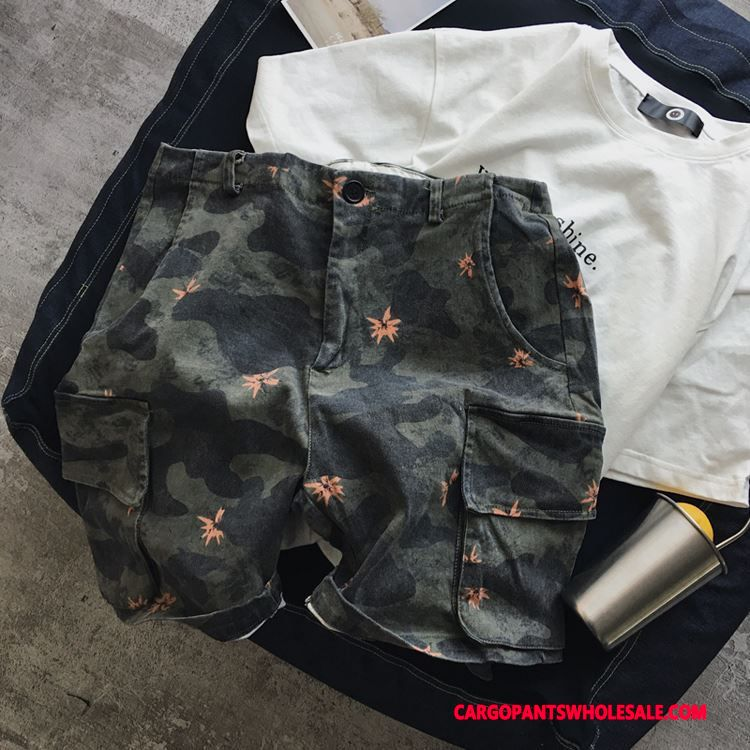 Cargo Shorts Male Camouflage Green Pants Leisure Shorts The New Summer