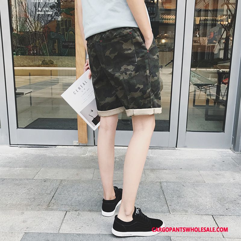 Cargo Shorts Male Camouflage Pants Shorts Loose Leisure Summer