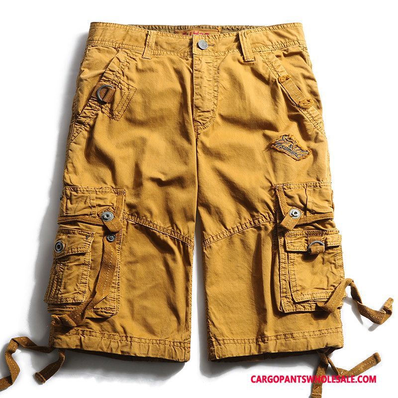 Cargo Shorts Mænd Grøn Bomuld Shorts Herre Europa Casual Bukser Cargo Bukser