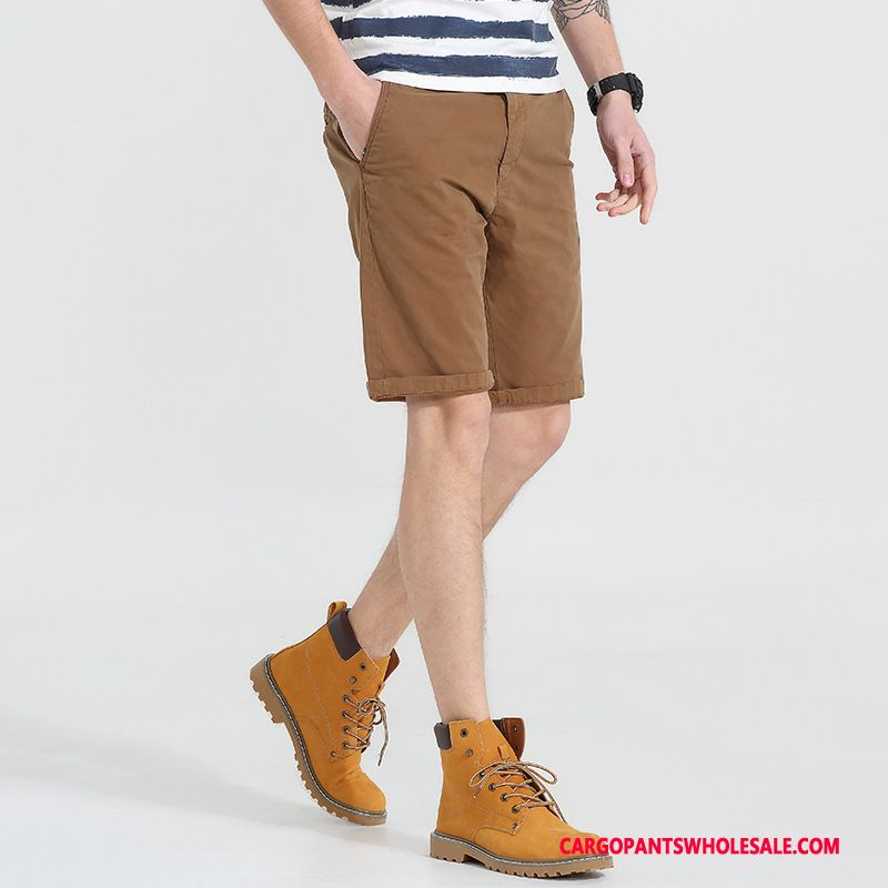 Cargo Shorts Male Green Loose Tide Men Men Cargo Beach Fashion