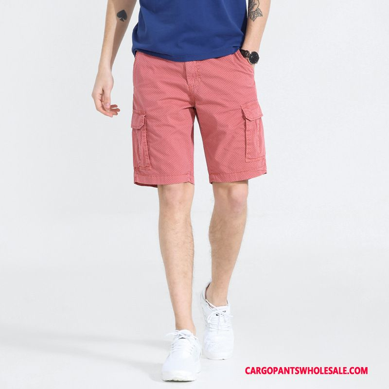 Cargo Shorts Male Green Powder Pants Cargo Men Men Multiple Pockets Shorts Large Size