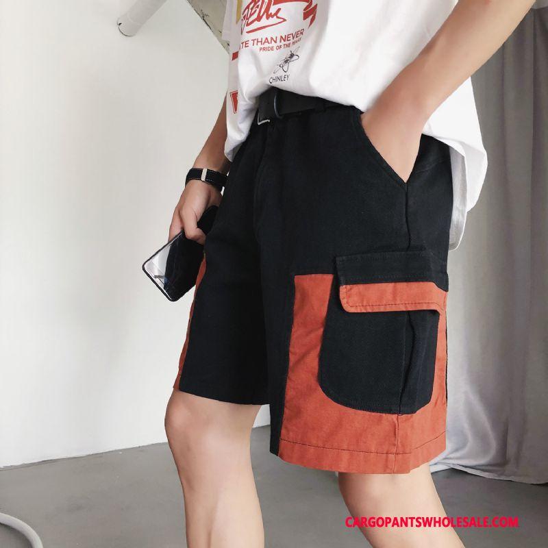 Cargo Shorts Male Green Shorts Trend Men Multi-pocket Cargo Pants