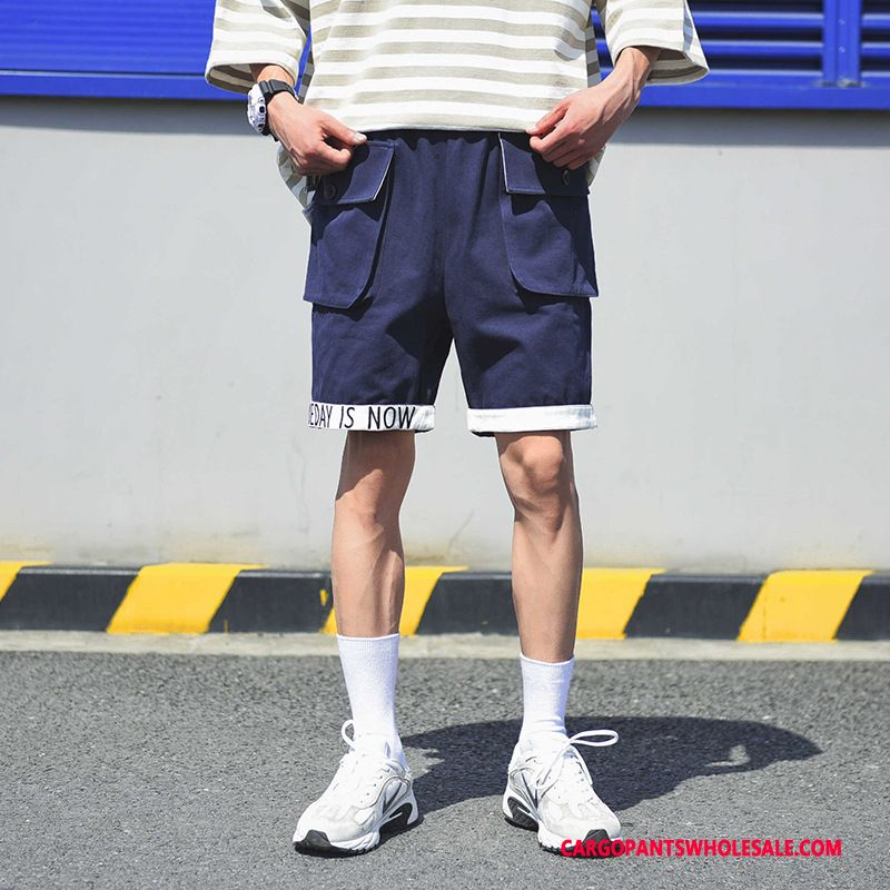 Cargo Shorts Male Green Summer Shorts Men Tide Cargo Casual Pants