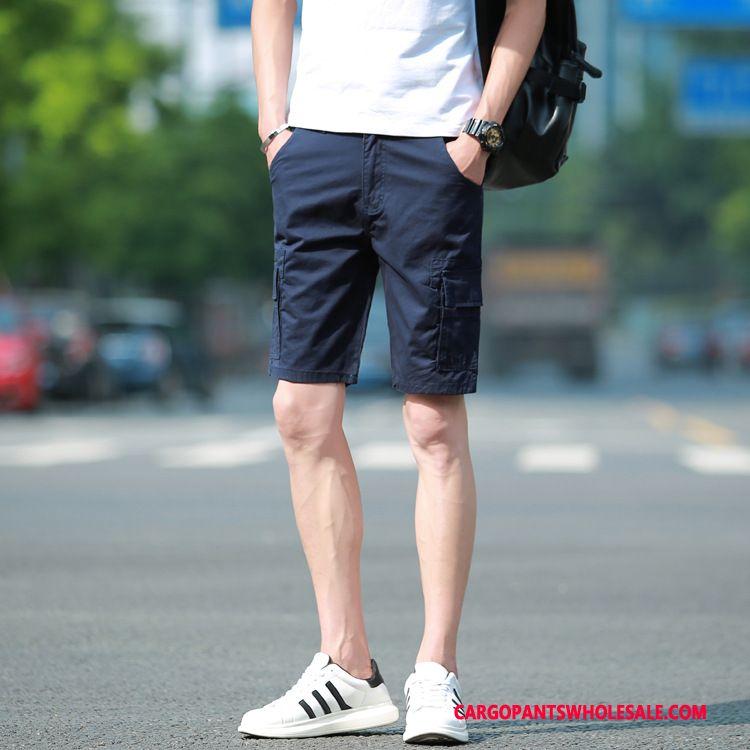 Cargo Shorts Male Green The New Pants Men Leisure Shorts Multi-pocket