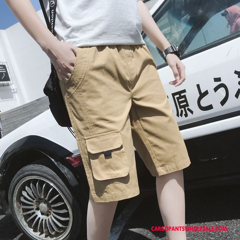 Cargo Shorts Male Khaki Beach Motion Men Men Cargo Medium Cotton