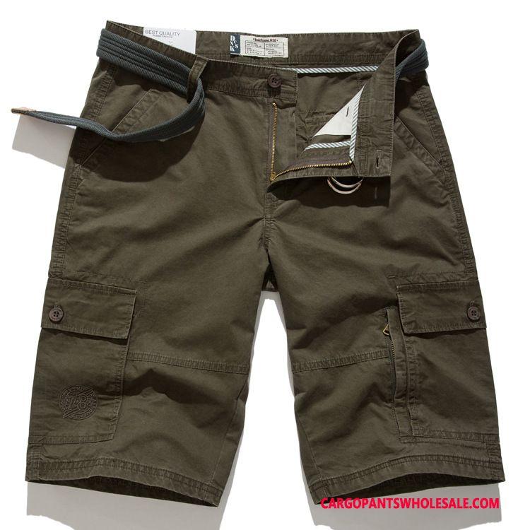Cargo Shorts Male Khaki Cargo Pants Large Size Men Leisure Medium Summer
