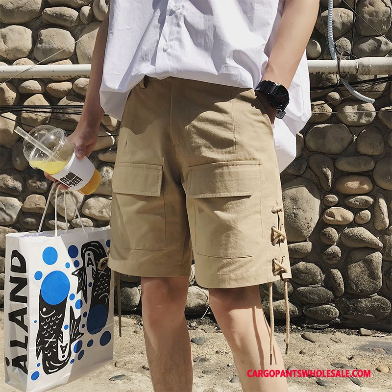 Cargo Shorts Male Khaki Casual Pants Cargo Shorts Comfortable All Match